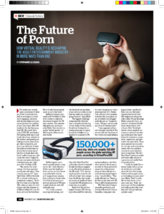 Screencap of VR porn print mag article