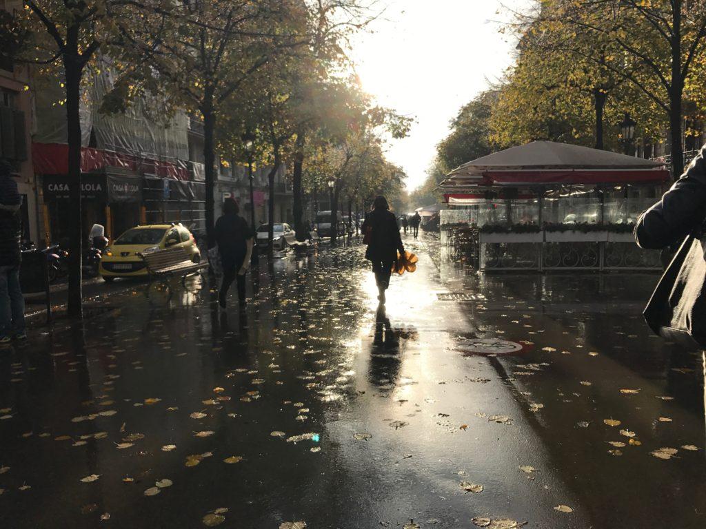Rainy Barcelona day
