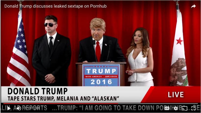The Trump VR Porn Tape Parody